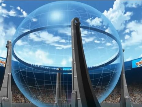 The Destroyer Dome in Beyblade Metal Fury Episode 15